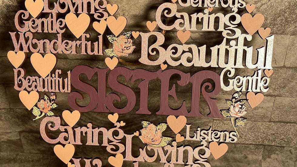 Sister worded heart