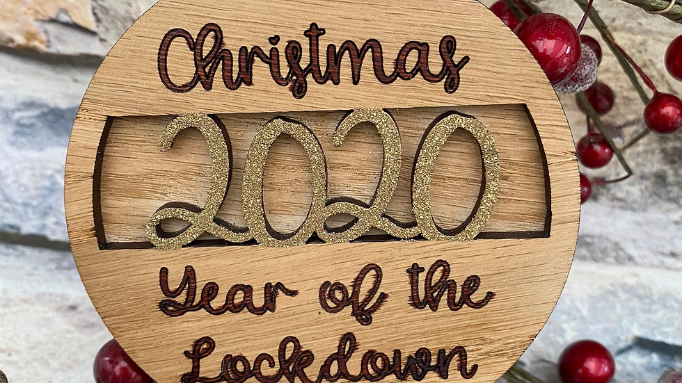 Christmas lockdown 2020, Santa, reindeer in Oak baubles