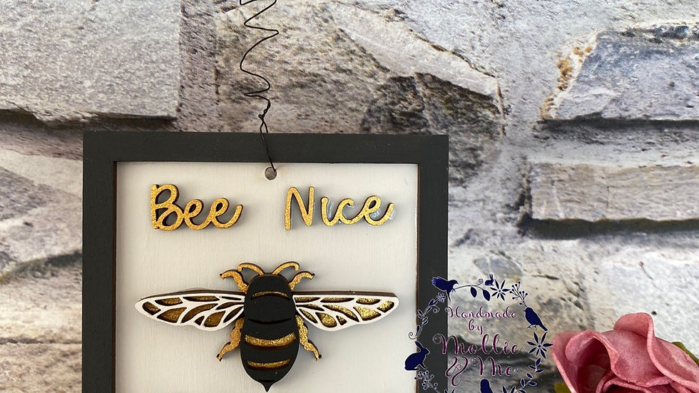 Bee nice or buzz off