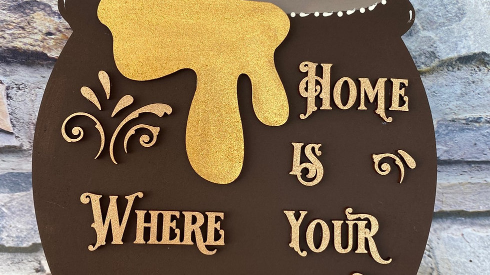 Home is where your honey is - Bee honey pot