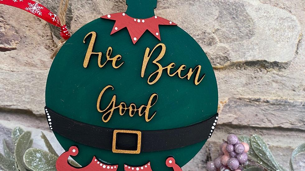 I've been good elf bauble