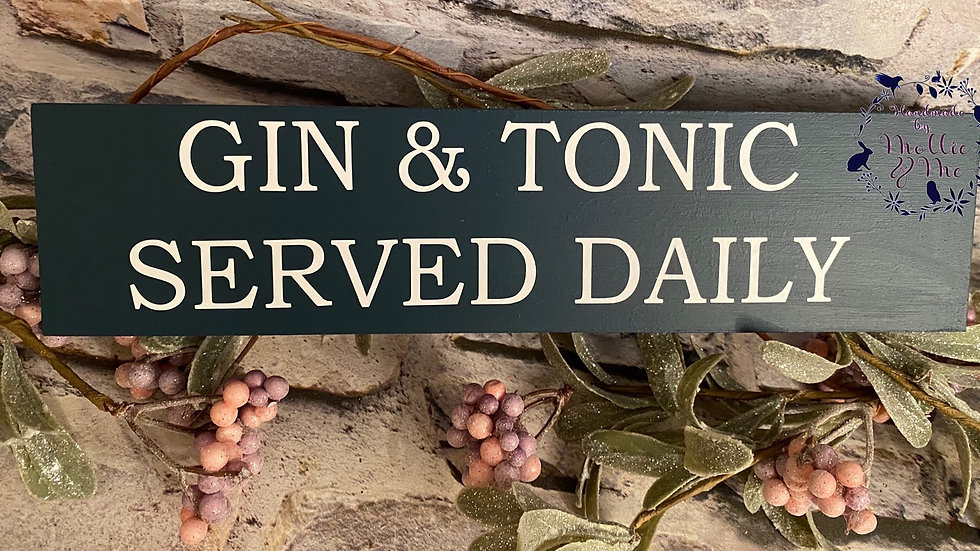 Gin & Tonic served daily