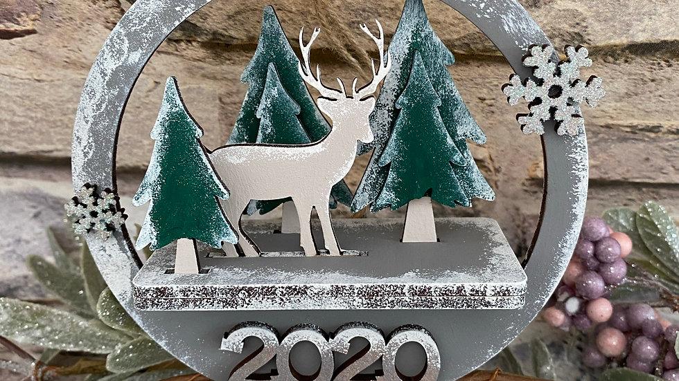 3d reindeer Christmas bauble 2020