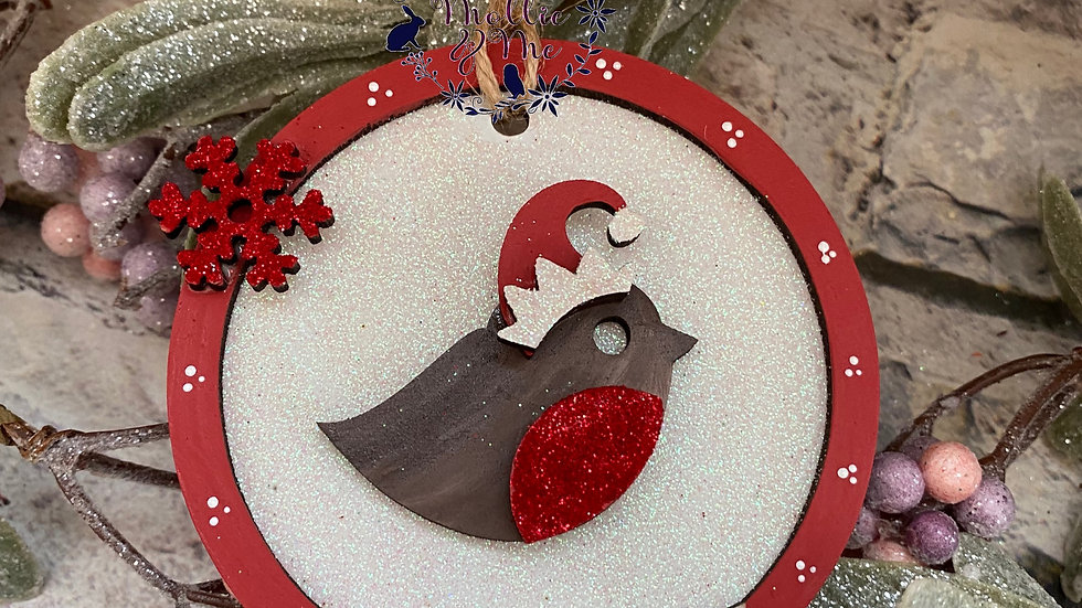 Christmas Robin snow globe