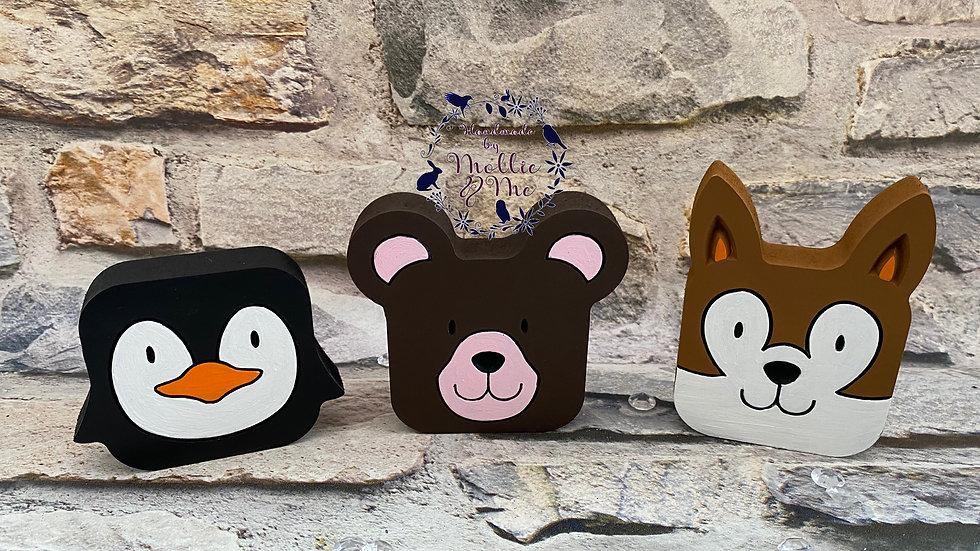 Cubes - penguin, bear and a fox
