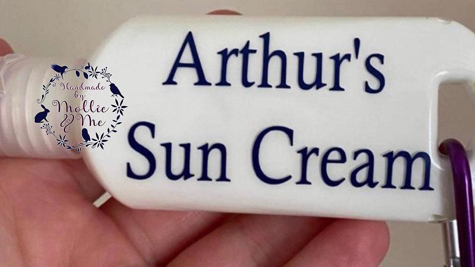 Sun cream bottle/keyring
