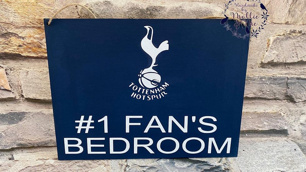 Tottenham #1 Fan Bedroom plaque
