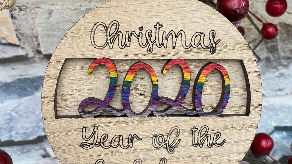 Christmas lockdown 2020, Santa, reindeer in Oak baubles