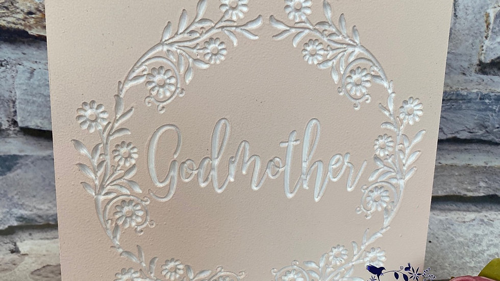 Godmother plaque