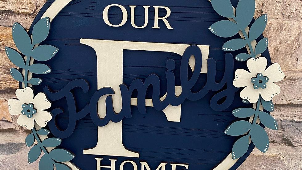 Our Family home plaque