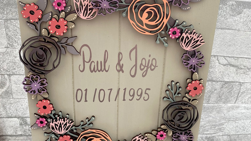 Anniversary/Wedding plaque