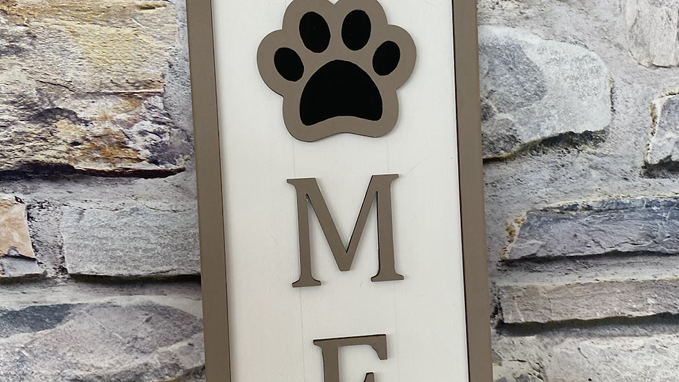 Home plaque with dog paw