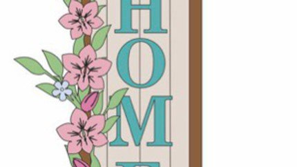 Home signs with flowers