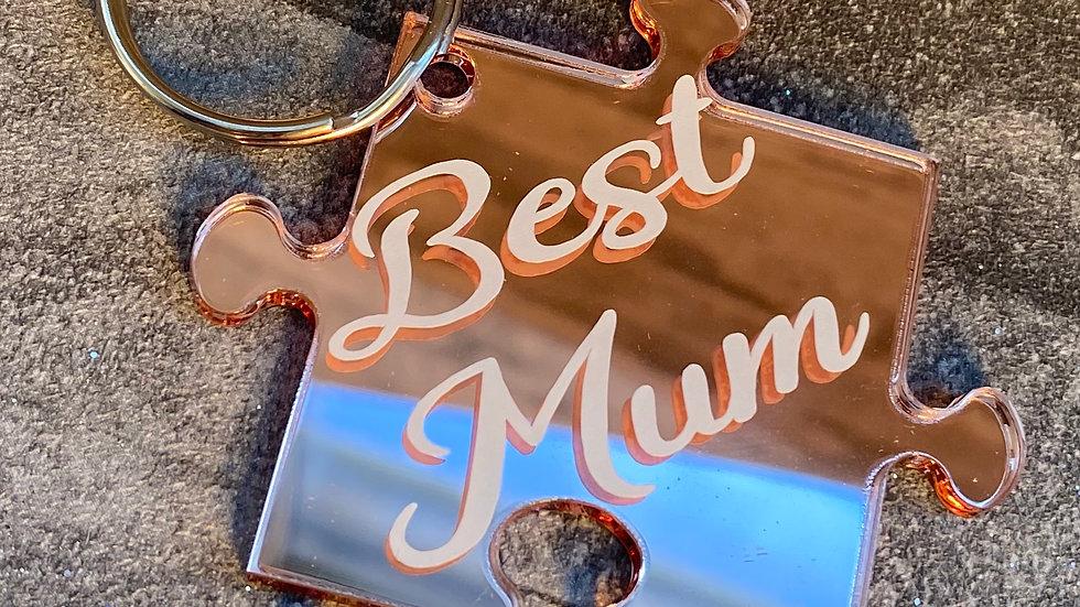 best mum Rose gold  keyring