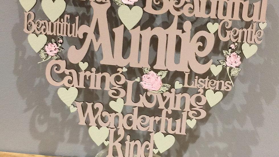 Auntie worded heart