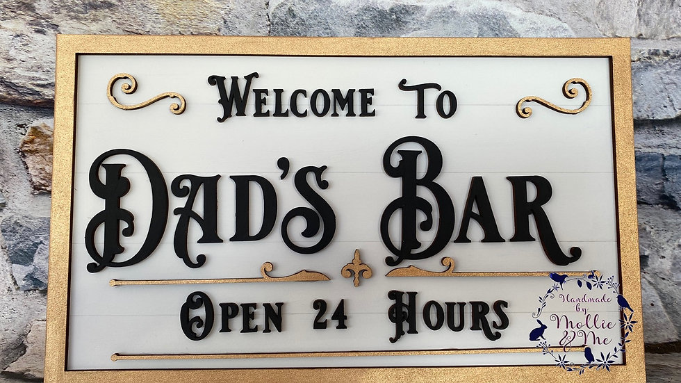 Welcome to dads bar