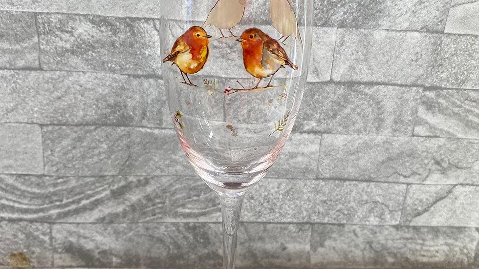 Robin champagne/Prosecco glass/flute