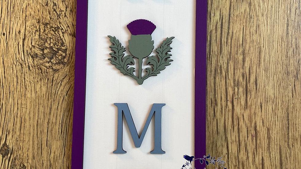 Thistle Scottish home sign