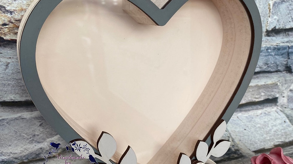 Chocolate fillable rose heart