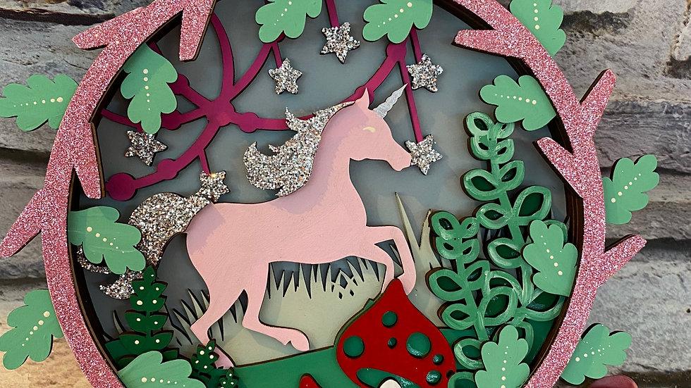 Magical unicorn plaque