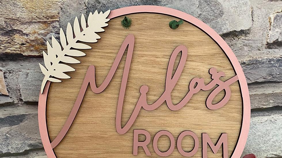 Name/bedroom plaque