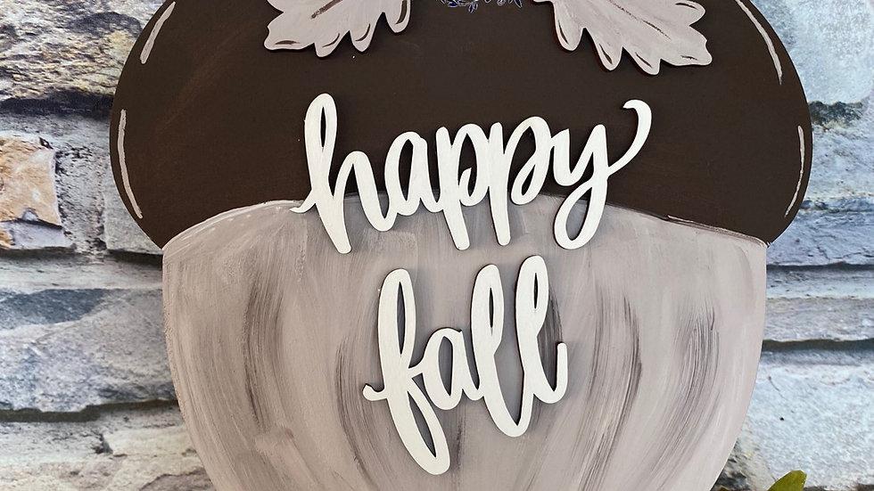 Happy fall acorn