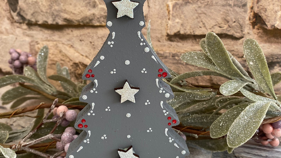 Freestanding Wooden Christmas hand painted