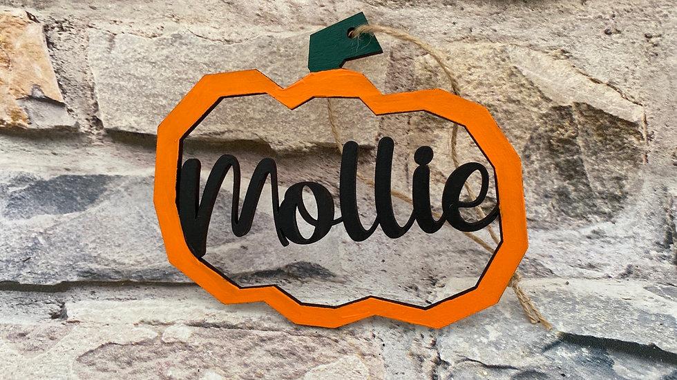 Personalised Halloween pumpkins