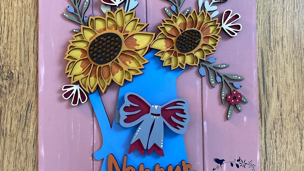Sunflower jug nanny's kitchen