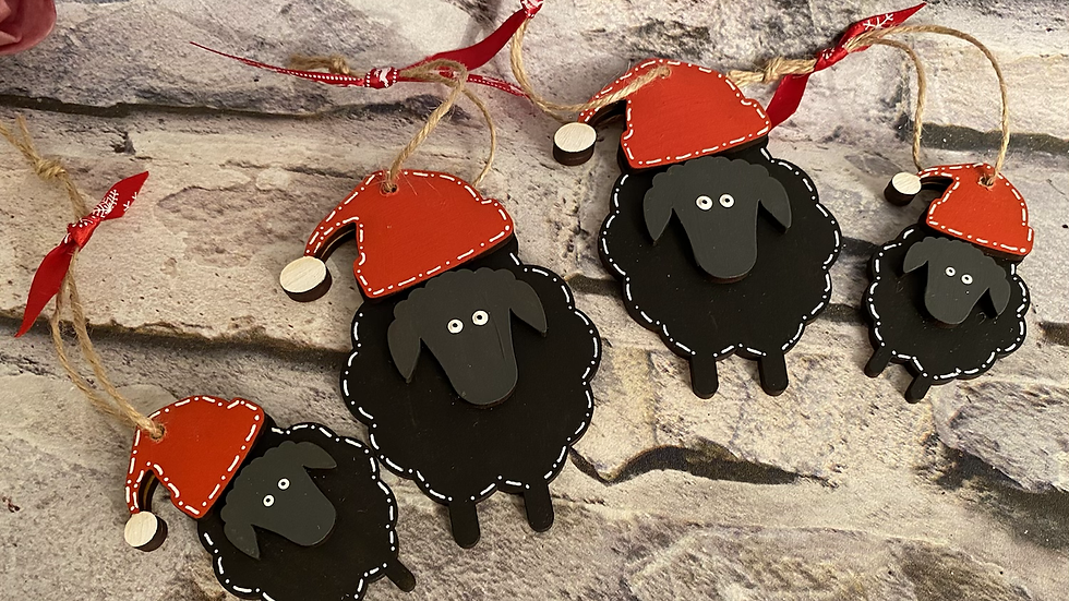 Small Christmas sheep 8cm