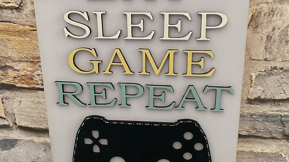 Eat sleep game repeat playstation/xbox