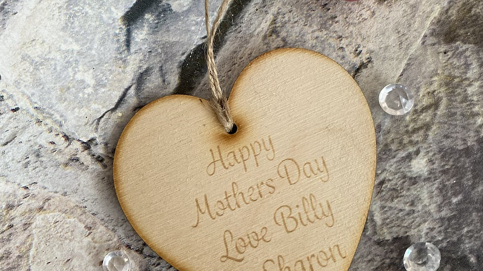 Mother's Day heart tag