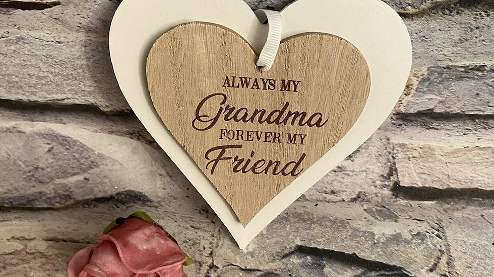 Grandma double heart