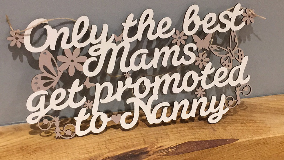 Only the best mum get promoted to Nanny