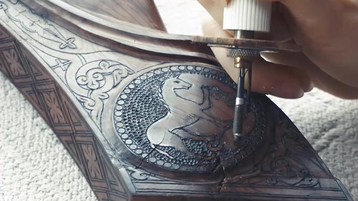 Harpes Herrou - Pyrogravure (Speed Art)