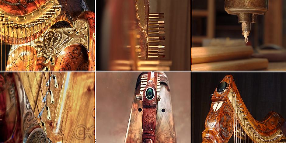 Harpes Herrou père & fils – L'atelier de harpes celtiques historiques