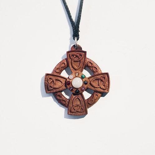 Pendentif Croix Celtique en bois