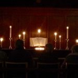 Candlelit service for Tenebrae