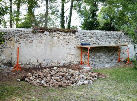 Restoring a medieval garden wall