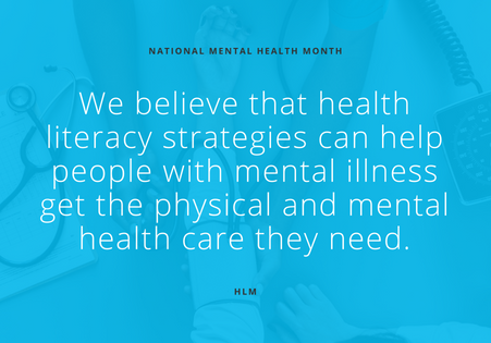 The intersection of health literacy and mental health