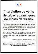 Interdiction de vente de tabac aux moins de 18 ans