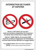Interdiction fumer et vapoter