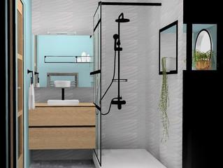 FOCUS sur les salles-de-bain/2projets, 2 ambiances #architectureinterieure #agencement #salledebain