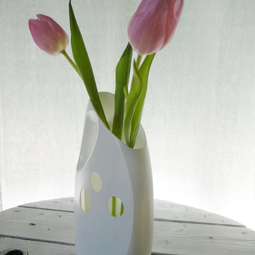 Recycler bidon de lessive en vase
