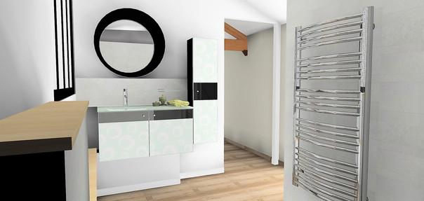 Vue 3D salle de bains