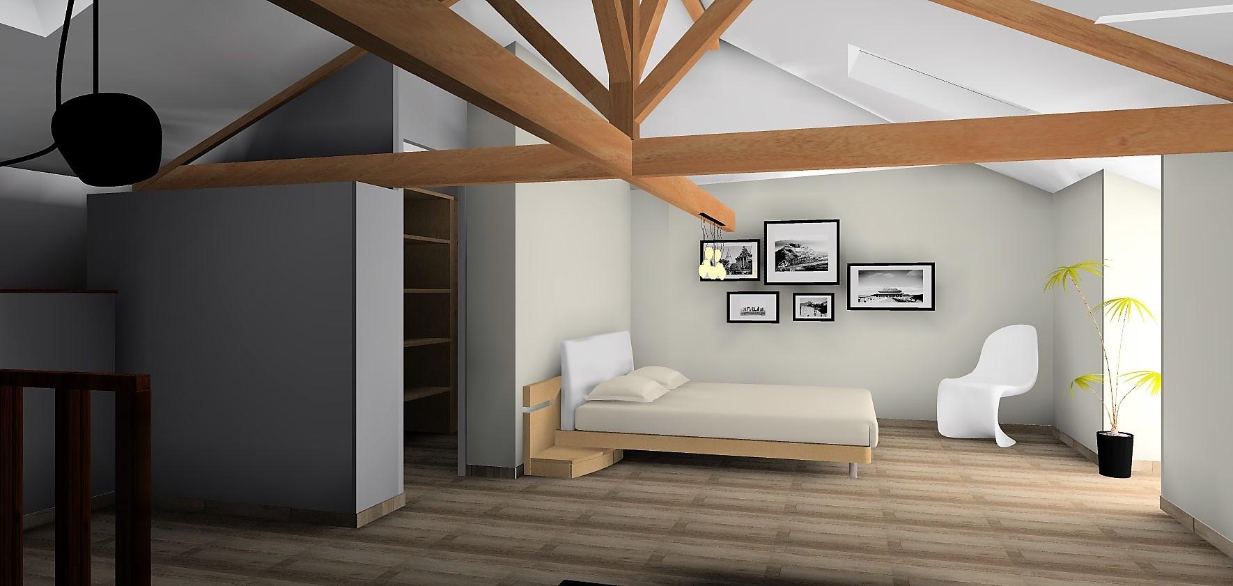 Vue 3D chambre