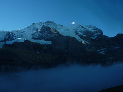 Sunrise on the Jungfrau, Switzerland