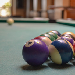 The Hub RWC has two pool tables, one upstairs and one down.