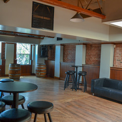 Light and bright is the feeling upstairs at The Hub RWC.