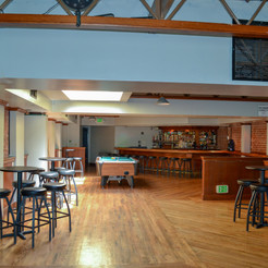 The upstairs function space holds around 100+ with a bar available if required.